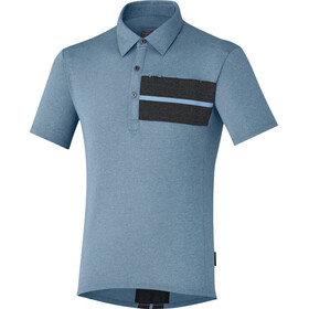 Shimano Transit Polo Homme, aegean blue